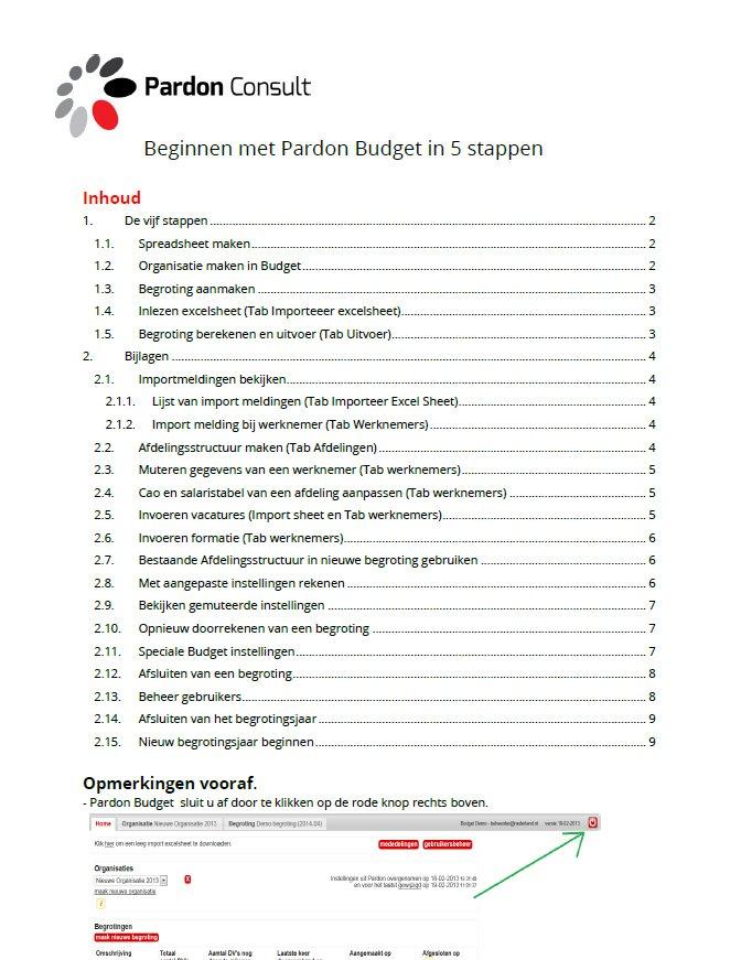 plaatje pardon budget in 5 stappen